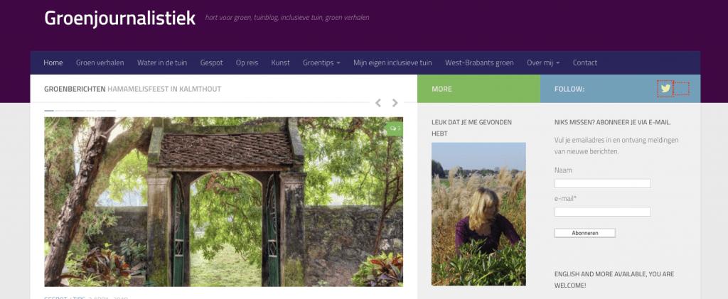 Tuinblog met tuininspiratie Groenjournalistiek